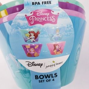 Disney princess bowl set of 4